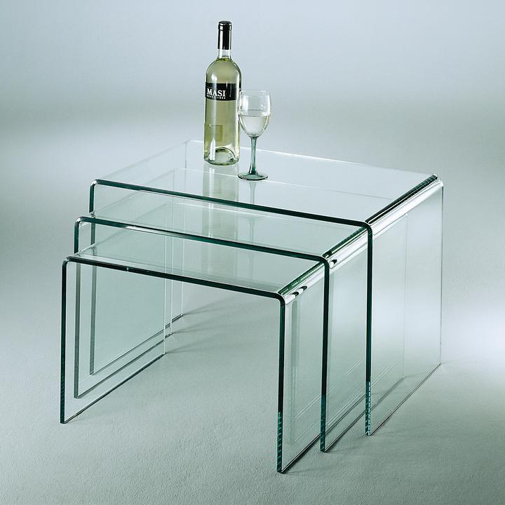 Glastisch 3er-Set