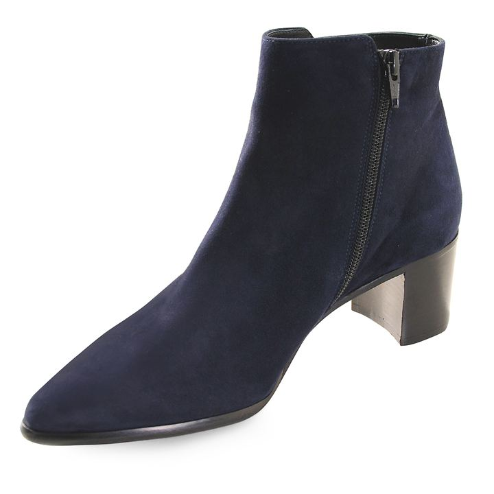 Stiefelette Pova blau velours Gr. 38