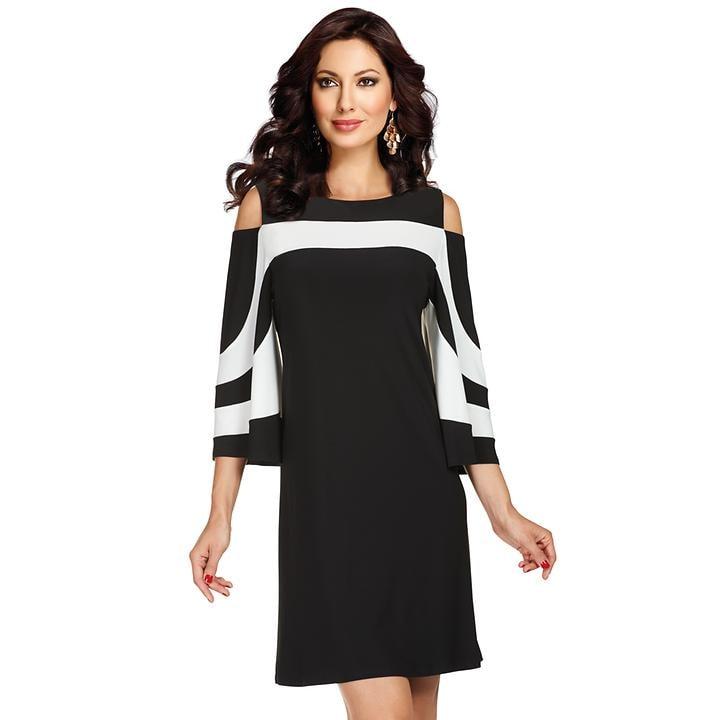 Kniefreies Kleid mit modischen Cut-Out-Details