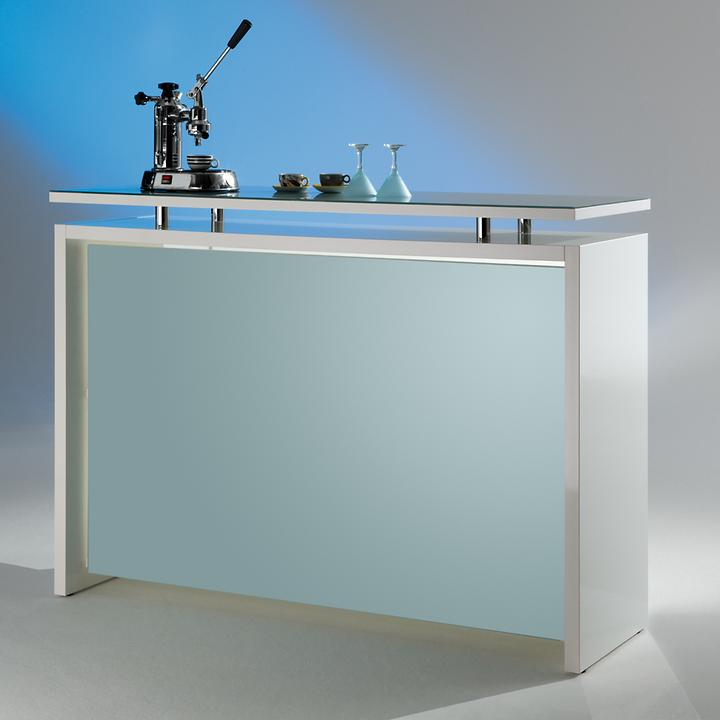 Theke Starlight weiss H 113 x B 155 x T 55 cm   Küche und Esszimmer > Bar-Möbel > Tresen und Theken   Weiß