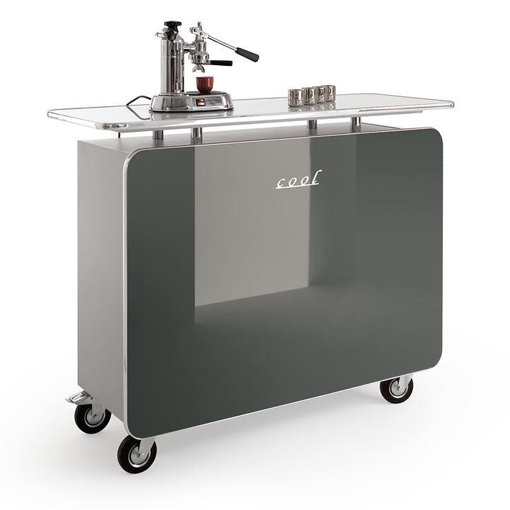 Theke mit Rollen Cool graphit H 113 x B 140 x T 53cm | Küche und Esszimmer > Bar-Möbel > Tresen und Theken | Grau