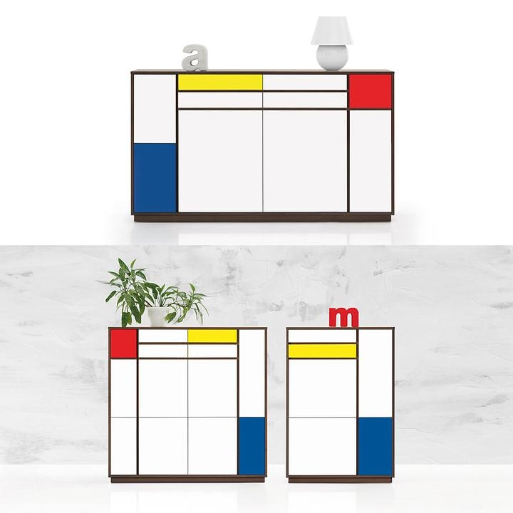 Kommode Mondrian