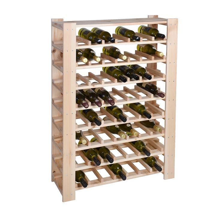 Weinregal FACILE natur, mittel für 56 Flaschen