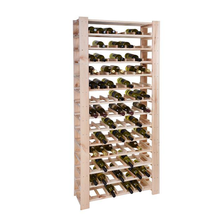 Weinregal FACILE natur, hoch für 91 Flaschen
