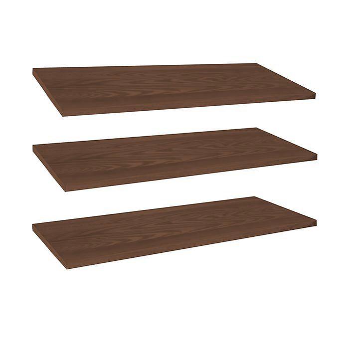 Zusätzliche Fachböden für LINEA, 3er-Set, Holz braun gebeizt