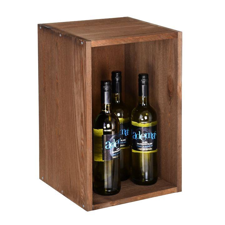 Weinlagerkiste VENETO, Holz braun gebeizt