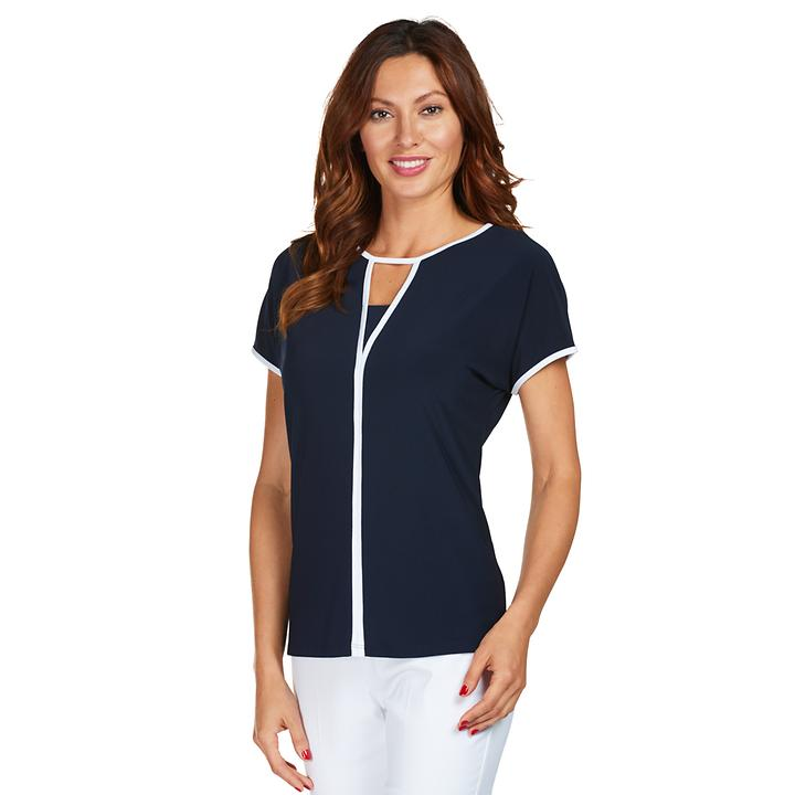 Shirt Lane schwarz/weiß Gr. 40