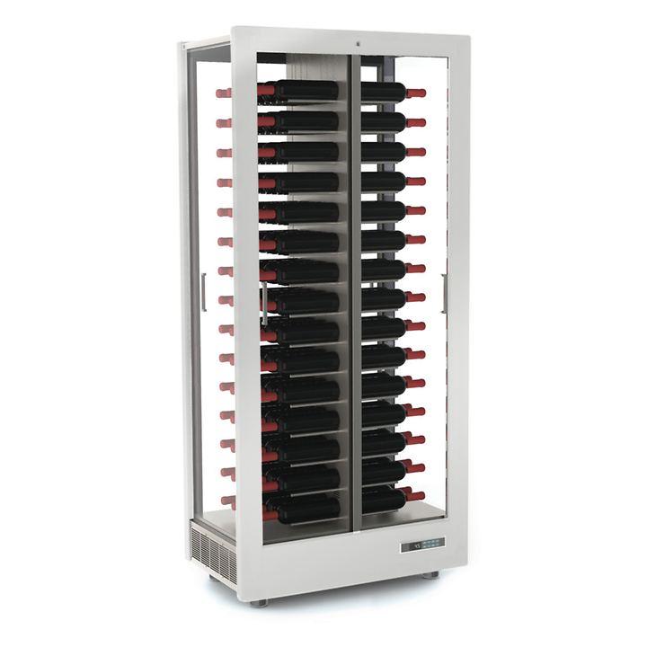 Weinkühlschrank TECA VINO, waagerechte Lagerung, matt weiß
