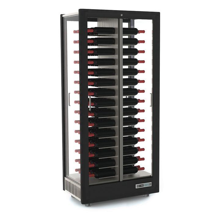 Weinkühlschrank TECA VINO, waagerechte Lagerung, schwarz