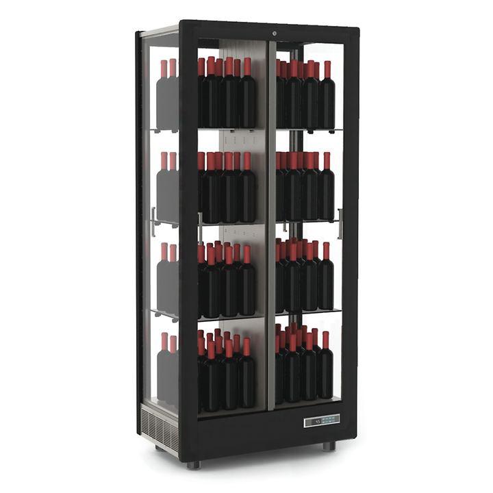 Weinkühlschrank TECA VINO, stehende Lagerung, schwarz