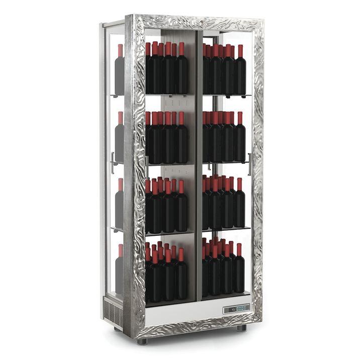 Weinkühlschrank TECA VINO, stehende Lagerung, silber