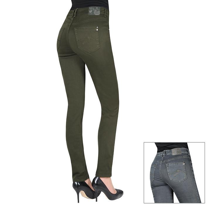 Schlankmacher-Jeans mit Glanz