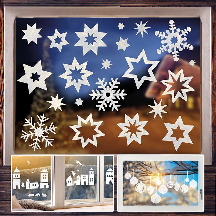 Fensterdekoration Sternen- und Kugel-Set