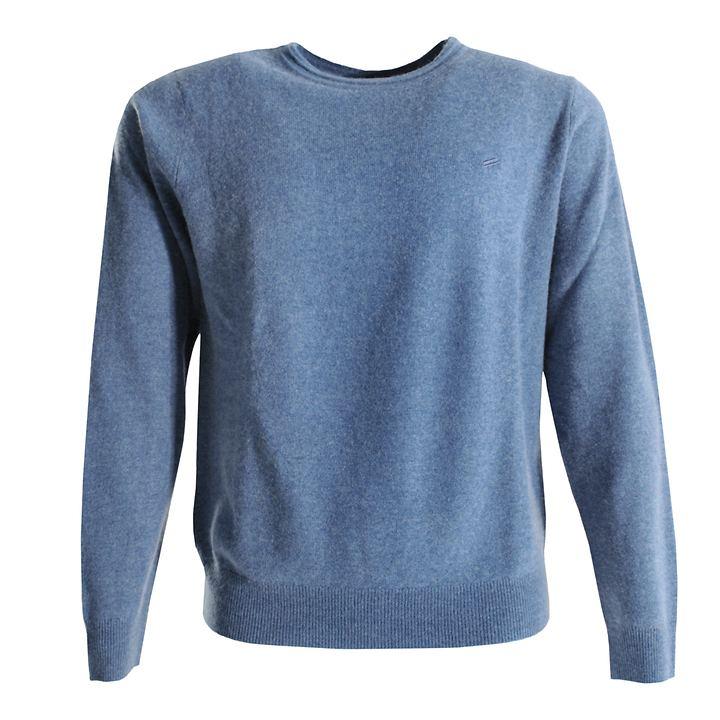 Kaschmir-Pullover Daniel Hechter blau Gr. XL