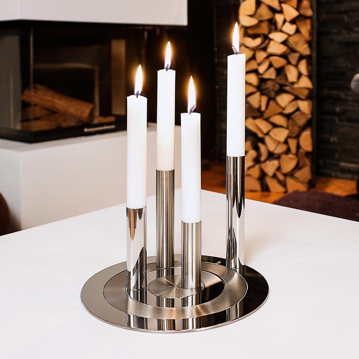 Kerzenleuchter-Set Ronda 4tlg.   Dekoration > Kerzen und Kerzenständer > Kerzenleuchter   Silber   Philippi