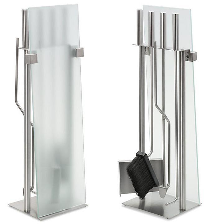 Standkamingarnitur Pure, 5tlg. | Wohnzimmer > Kamine & Öfen > Kaminbestecke | Silber | Blomus