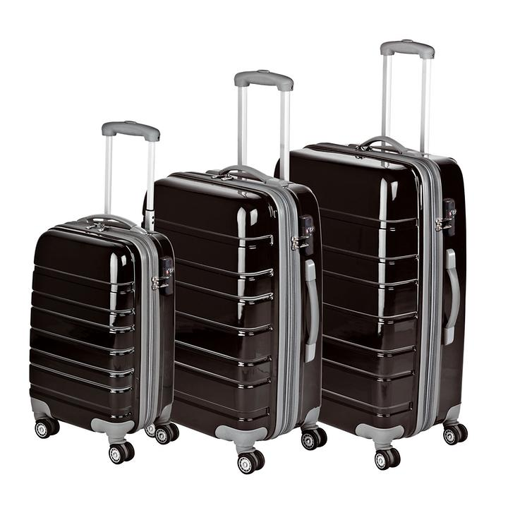 4-Rollen-Trolley Travel schwarz