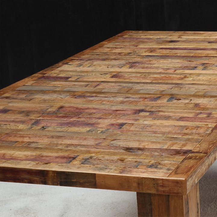 Tisch BOTTE DA VINO, rustik mit Holzgestell