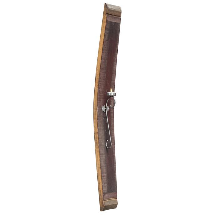 """*NEU*: Wandleuchter """"Facella"""" aus Holz und Eisen, rotbraun"""