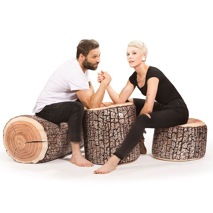 Sitzhocker Dot Com Wood
