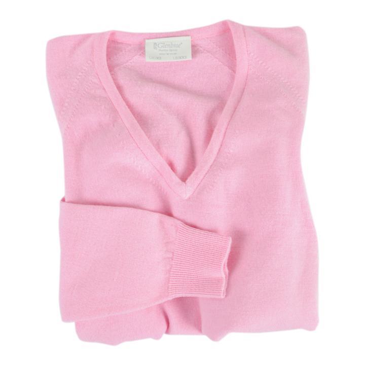 Damen-V-Pullover Isabel Rosa