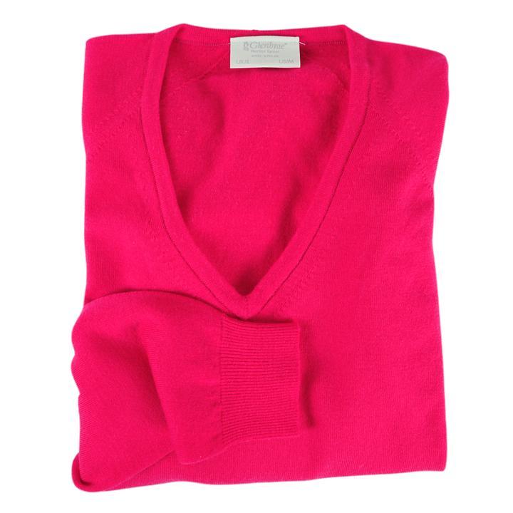 Damen-V-Pullover Isabel Pink