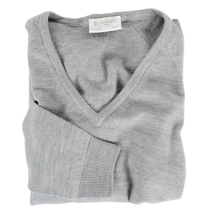 Damen-V-Pullover Isabel Grau