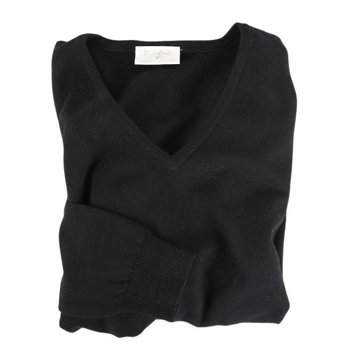 Damen-V-Pullover Isabel Schwarz | Bekleidung > Pullover > V-Pullover