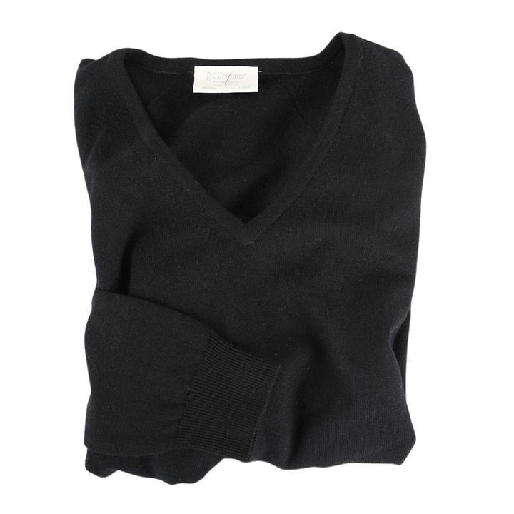 Damen-V-Pullover Isabel Schwarz