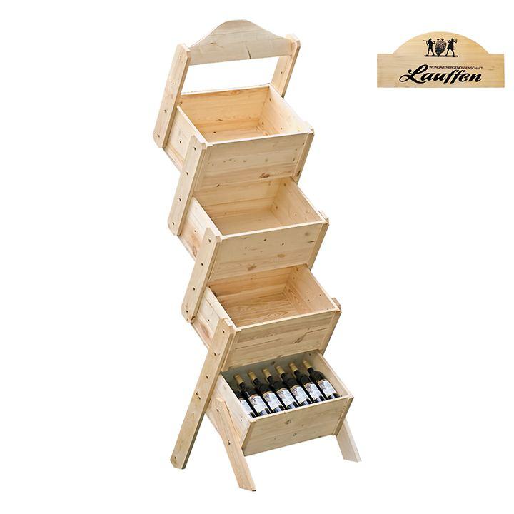 Verkaufsständer PISA mit 4 Kisten, Abn. ab 10 Stck.