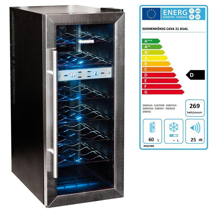 Weinkühlschrank CAVA 21 Dual für 21 Flaschen