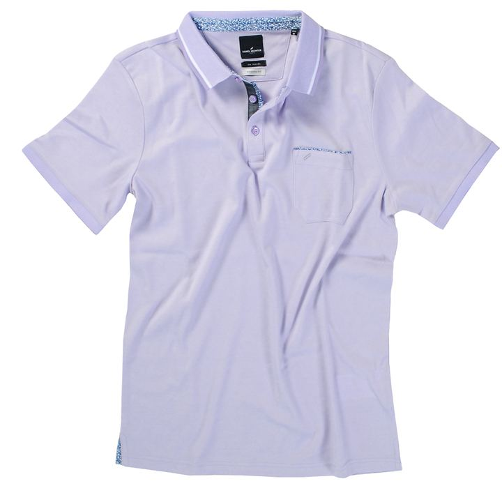 Polo-Shirt Stefan flieder, Gr. L