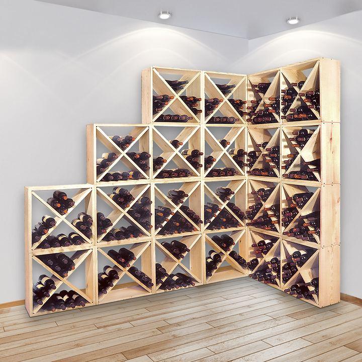 Vollholz Weinregal-System Cube 48