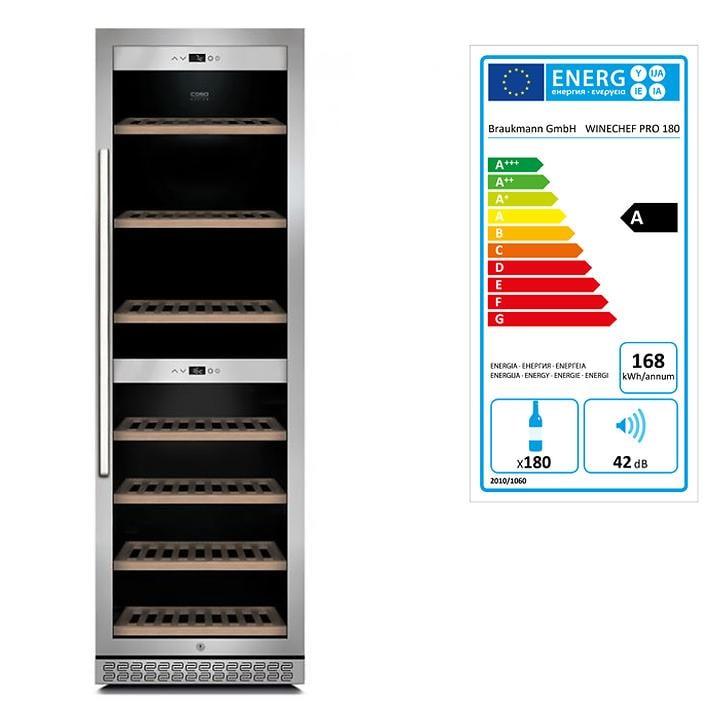Weinkühlschrank 'WineChef Pro 180' mit App, für 180 Fl.