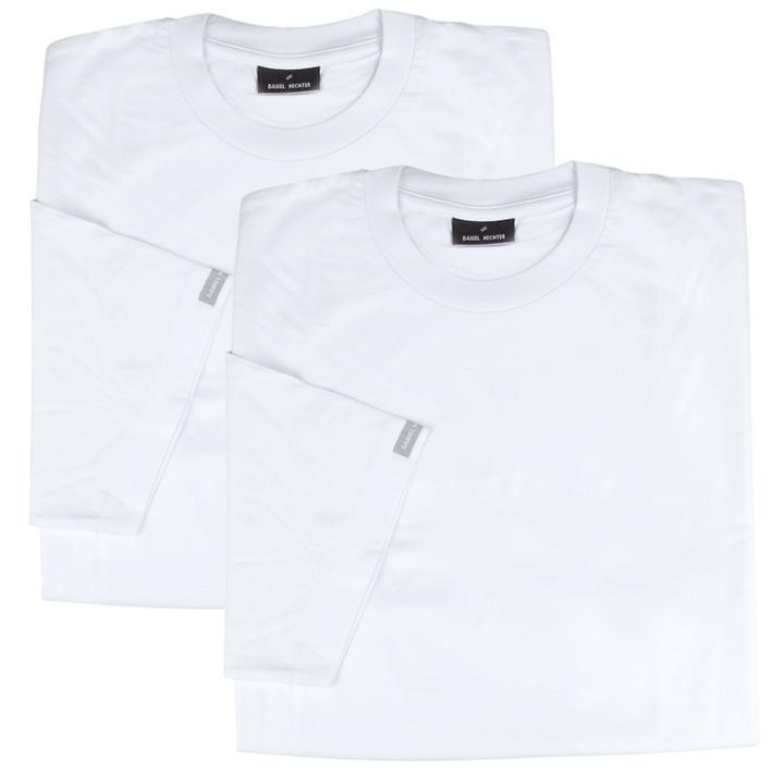 T-Shirt DH mit V-Ausschnitt, 2er-Set, weiß, Gr. L