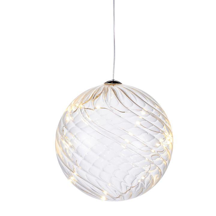 LED-Glaskugel Wave D 13 cm | Weihnachten > Christbaumschmuck | Transparent | Sirius