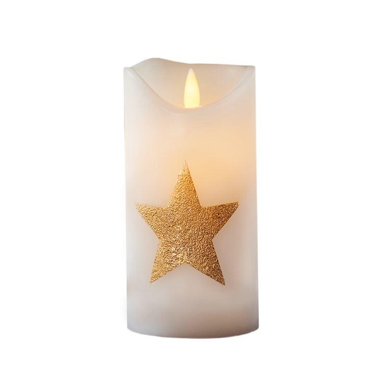LED-Kerze Star gold