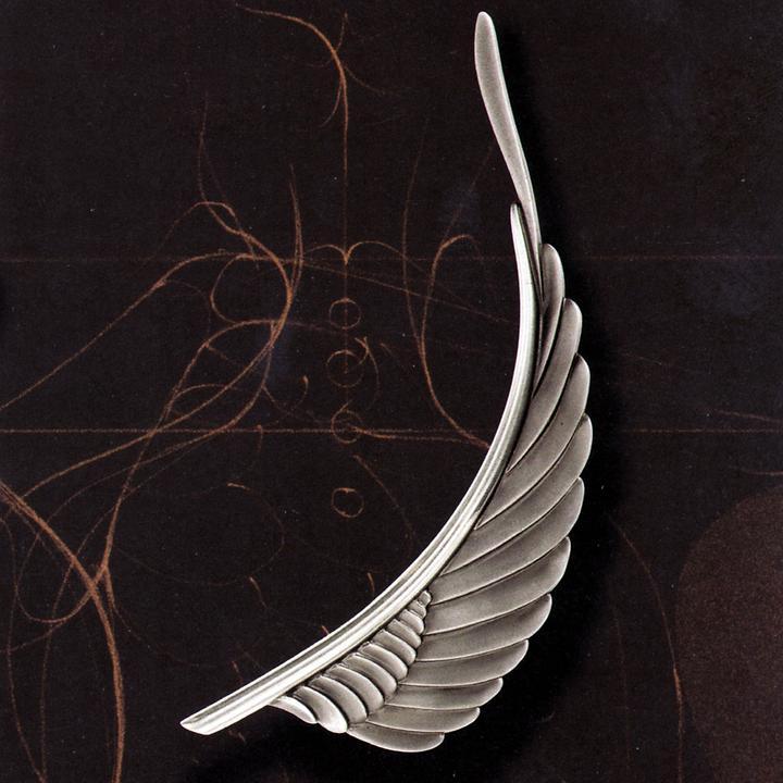 Paul Wunderlich Brosche Silver Swing