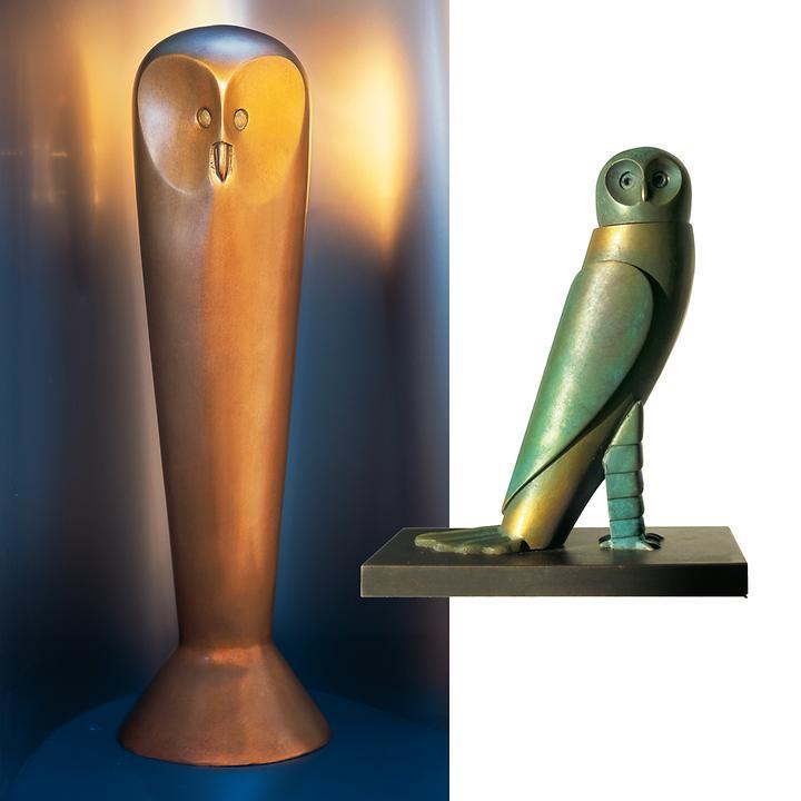 Skulpturen Die Eule von Minerva & Kleine Eule