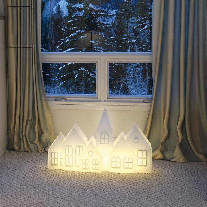 LED-Leuchthaus 6er-Modell
