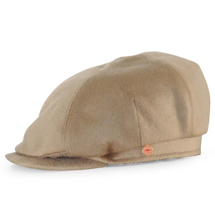 Flatcap Kaschmir beige Gr.56