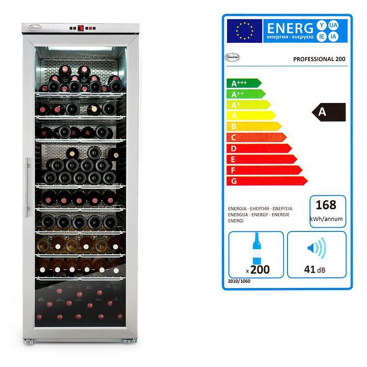 PROF 200 Wein-Klimaschrank H 165 x B 600 x T 74 cm