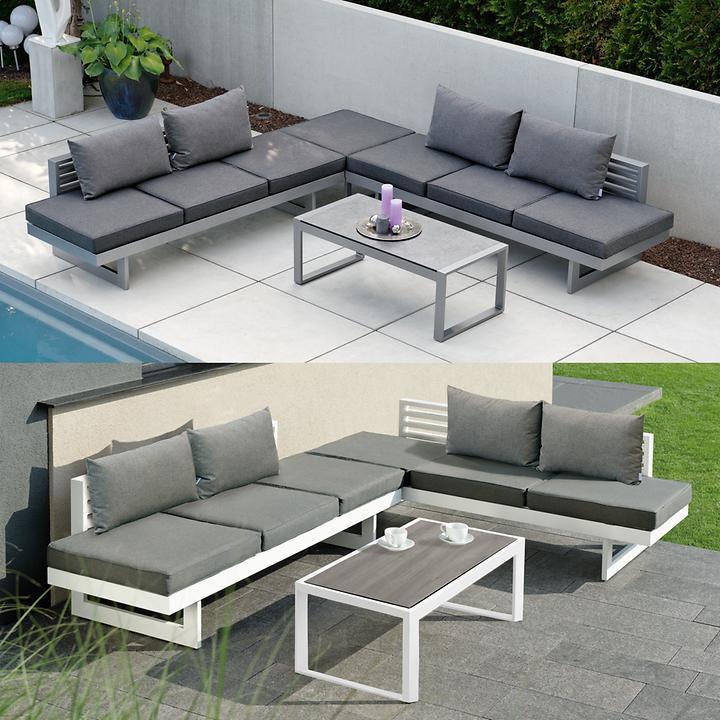 lounge gartenm bel aus pulverbeschichtetem aluminium. Black Bedroom Furniture Sets. Home Design Ideas