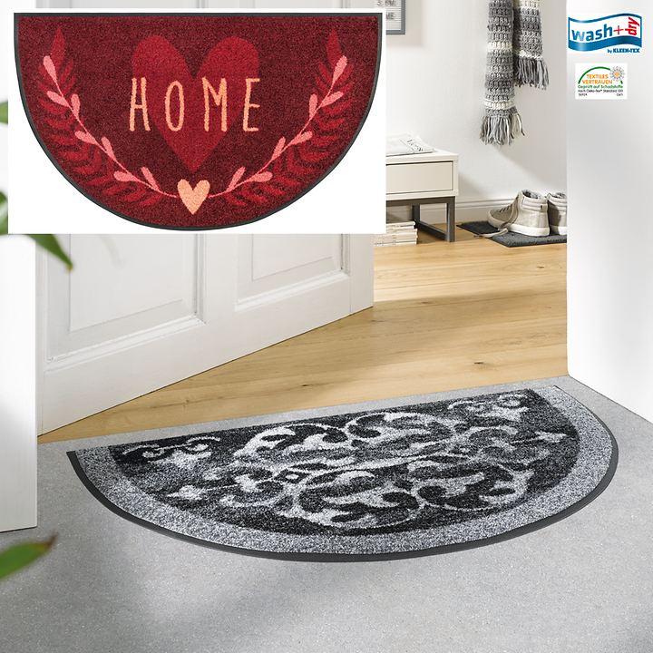 halbrunde Fußmatte Ornamets und Home
