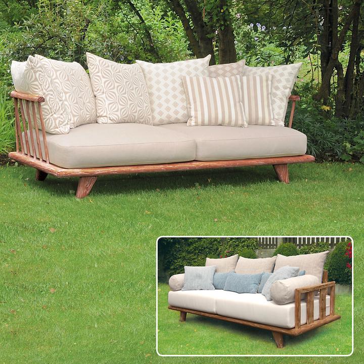 Teakholz-Lounge-Sofas aus recyceltem Teakholz