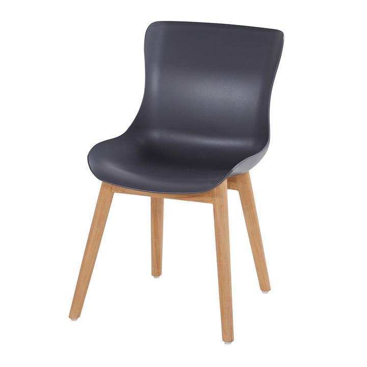 Stuhl ohne Armlehne dunkelgrau Sophie 2er-Set