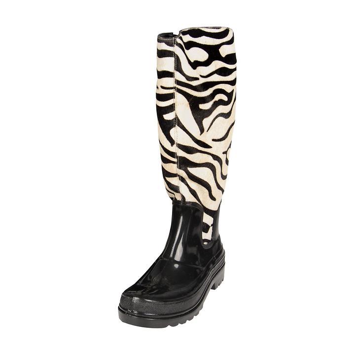 Damen-Stiefel Zebra, Gr. 42