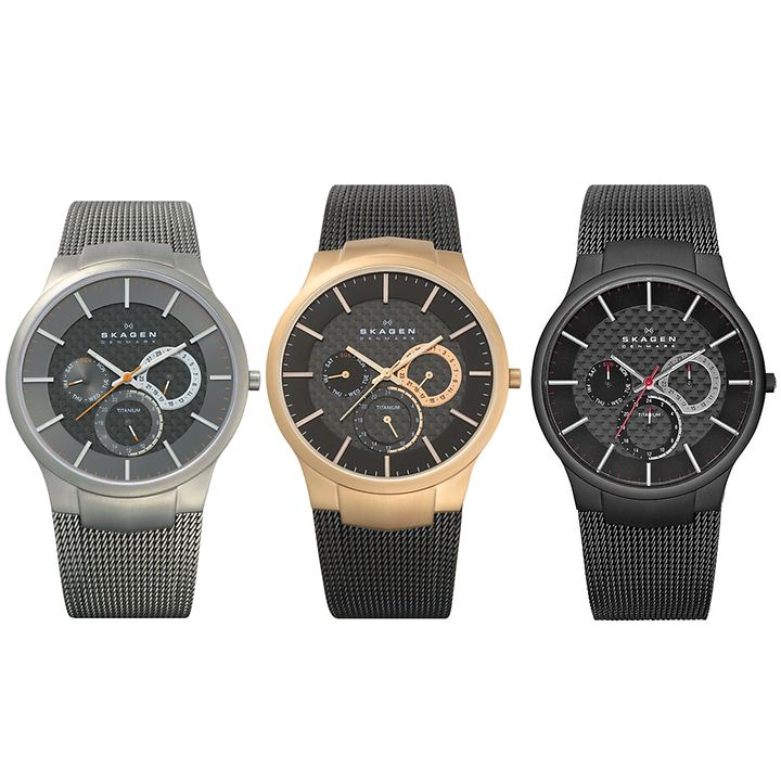 Skagen-Armbanduhr Titanium in 3 Designs