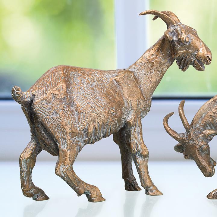 Skulptur Ziege, stehend