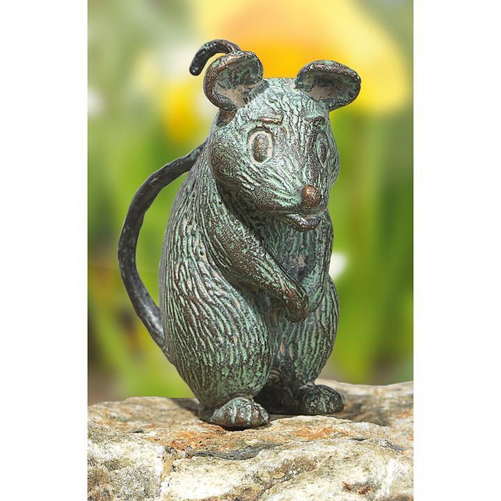 Bronze-Skulptur Maus stehend